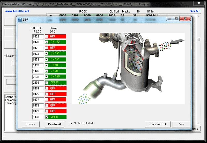 EGR, DPF, DTC Removal Software for VAG/PSA ECU(Bosch)