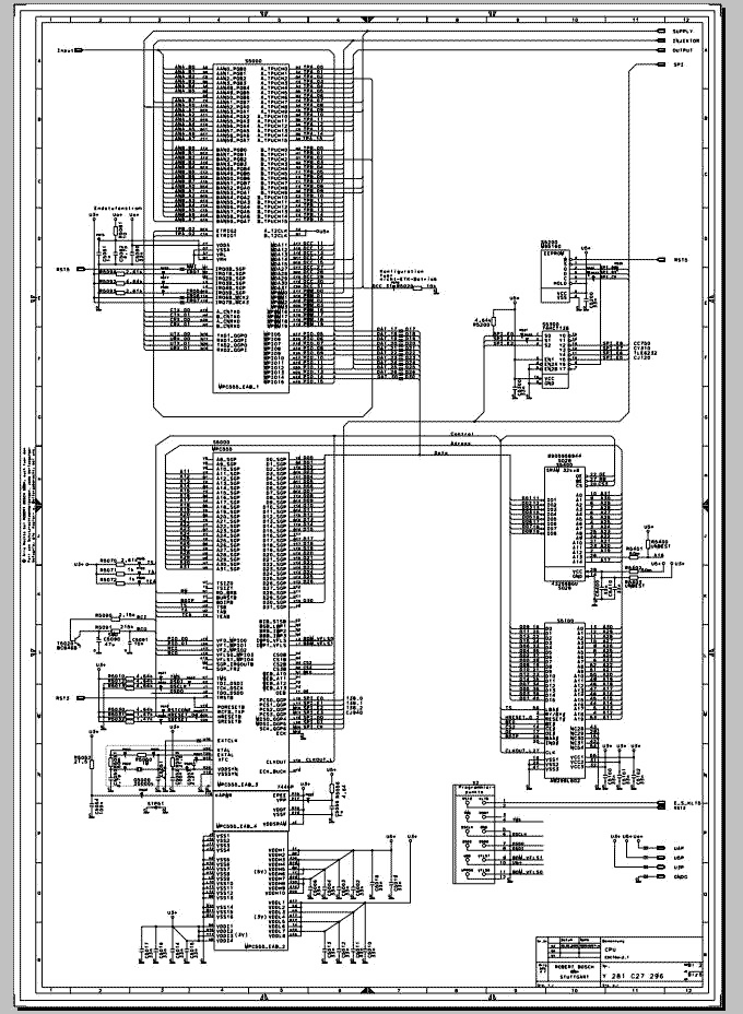 ecu circuit diagram for bosch  ecu schematic