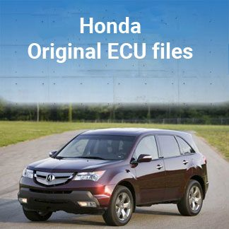 Original ECU files for Honda gasoline