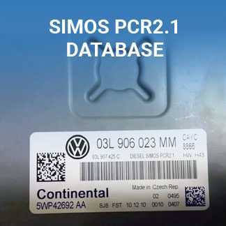 Simos PCR2.1 ECU files database